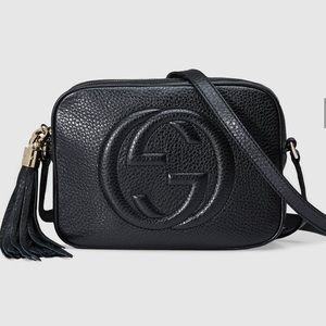838dd1c71b9 Gucci Bags - Gucci Soho Small Black Leather Disco Bag New